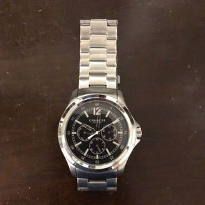 Coach stainless steel chronograph watch